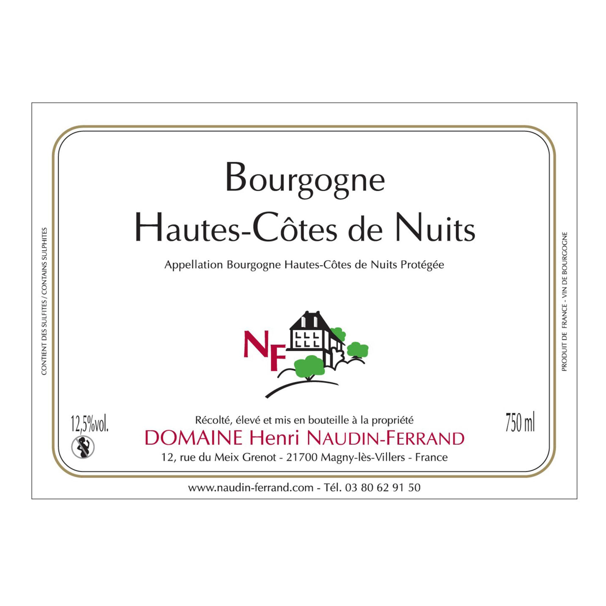 Bourgogne Hautes-Côtes de Nuits Domaine Henri Naudin Ferrand